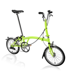 Brompton M2L Lime Green folding bicycle