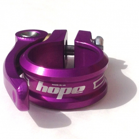 Hope seat post clamp - quick release - 31.8mm - Purple