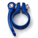 Hope blue 31.8mm diameter quick release seat post clamp - top view