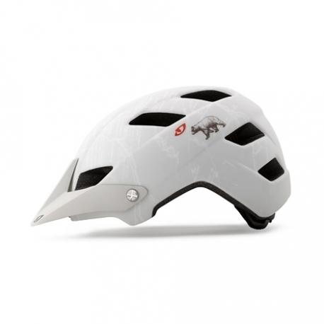 Giro Feature bicycle helmet - White / California bear