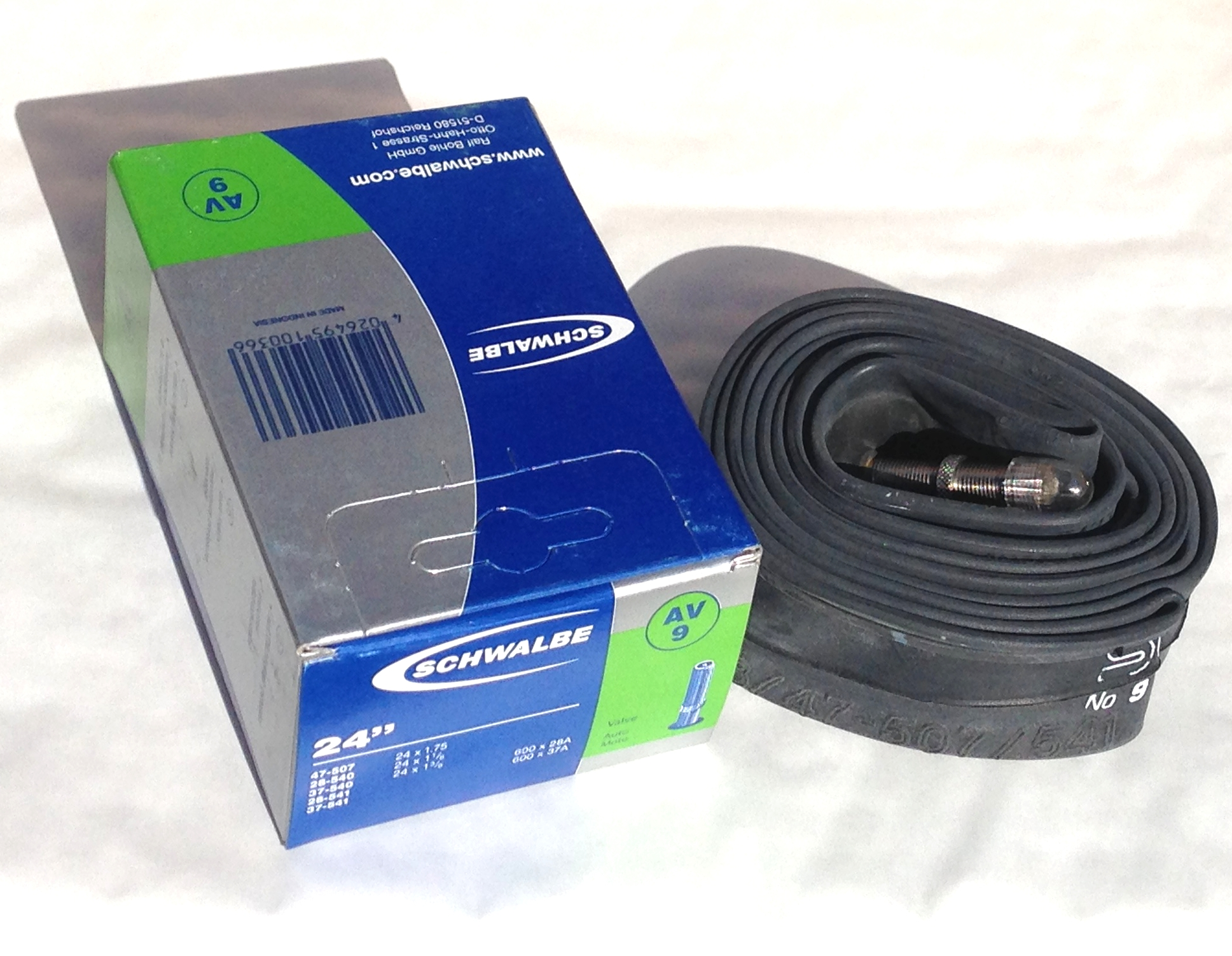 24 Inch Inner Bicycle Tube Rubber Tubes 24 x 1-3//8 Mountain Bike Schrader