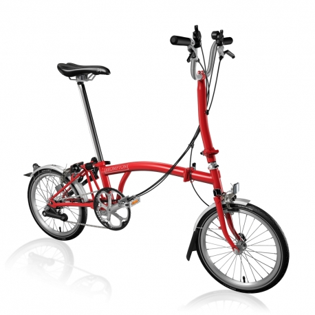 Brompton H6L Red folding bicycle
