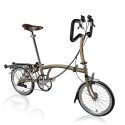 Brompton 2016 P6R Raw Laquer folding bicycle with Brooks saddle