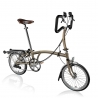 Brompton P6R Raw Laquer folding bicycle with Brooks saddle