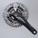 Shimano Deore 2 piece design chainset, 9-speed 48/36/26T black 175mm