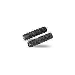 Pro race dual lock grips, 130 x 33 mm, black with black lock rings