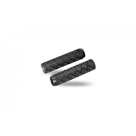 Pro race dual lock grips, 130 x 33 mm, black with black lock rings