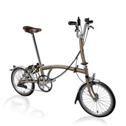 Brompton M6L Raw lacquer folding bike with ladies Brooks saddle