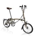 Brompton 2016 M6L Raw lacquer folding bike with ladies Brooks saddle