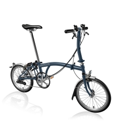 Brompton S6L Tempest Blue folding bike