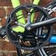 Brompton BLACK 54T crankset - spider version - on lime green bike