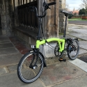 Brompton 2017 M6L Lime Green BLACK edition folding bicycle
