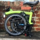 Brompton M2L Lime Green BLACK edition folding bicycle - folded