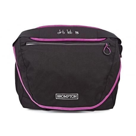 Brompton C bag set - Black with Berry Crush trim