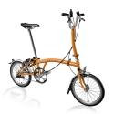 Brompton 2016 H3L Orange folding bicycle