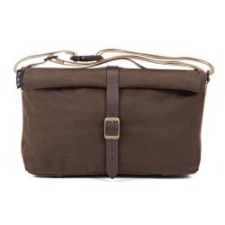 Brompton roll top bag - Brown