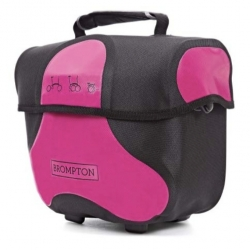 Brompton Mini O bag - Black / Berry Crush