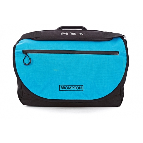 Brompton S bag - Black / Lagoon Blue