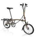 Brompton 2016 H6R Raw Lacquer folding bicycle