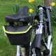 Brompton saddle pouch - Grey (with Lime Green trim)