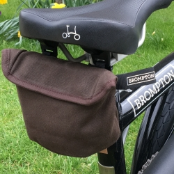 Brompton saddle pouch - Waxed Canvas