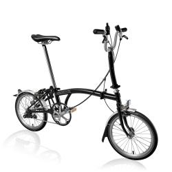 Brompton M3L folding bike - Stardust Black