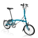 Brompton 2016 H3L Lagoon Blue folding bicycle
