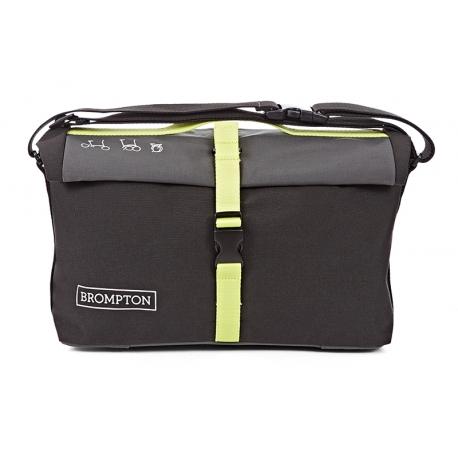 Brompton roll top bag - Grey/Black/Lime Green