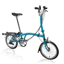 Brompton 2016 H6R Lagoon Blue folding bicycle