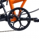Brompton BLACK 54T crankset - spider version - on bike