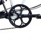 Brompton BLACK 50T spider crankset - on bike