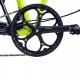 Brompton BLACK 44T crankset - spider version - on bike
