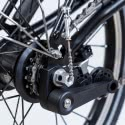 Brompton BLACK 3 or 6 speed rear wheel with wide range Sturmey Archer hub