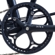 """Brompton BLACK chain ring / guard assembly for 54T """"spider"""" chainwheel - on bike"""