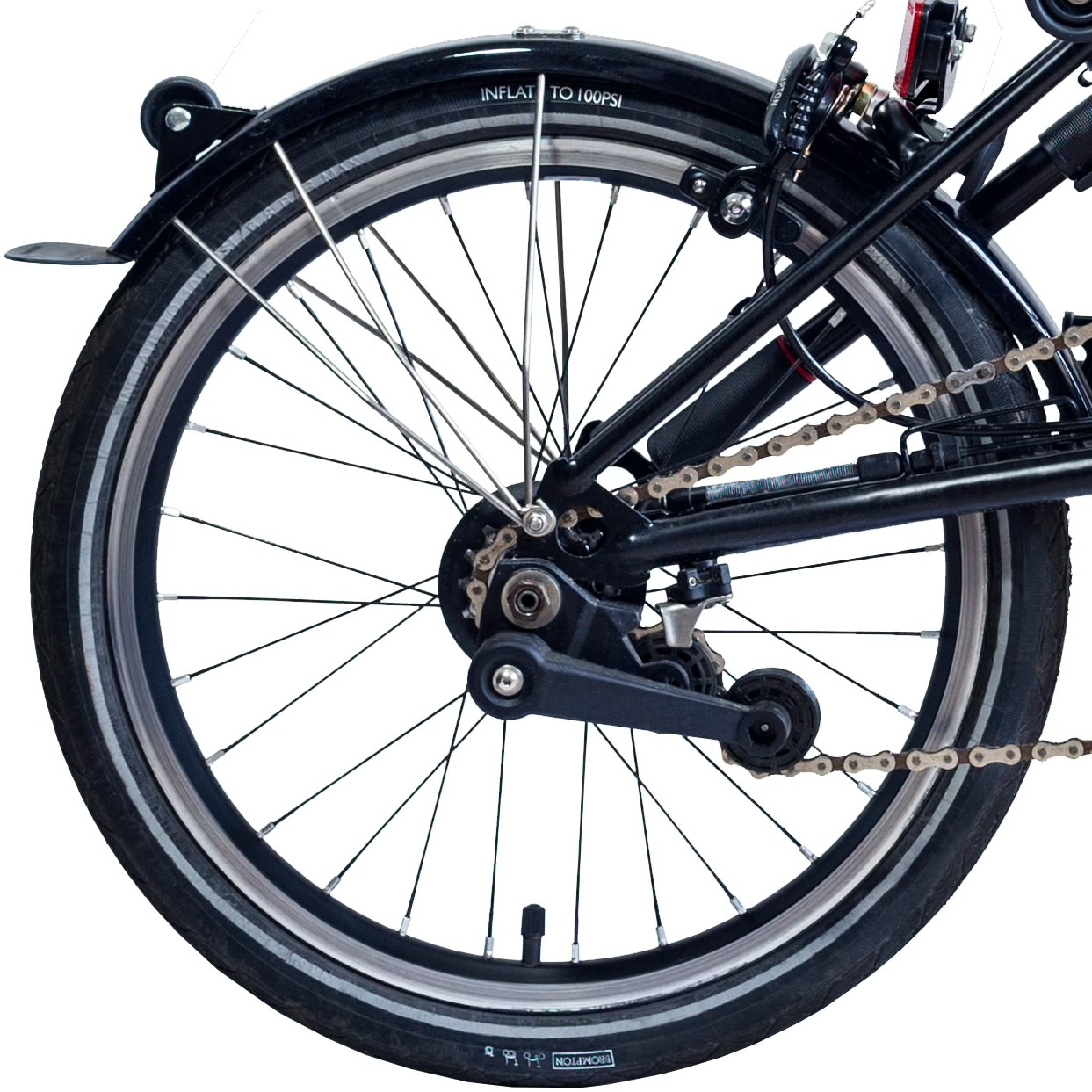 Brompton 2 speed axle fittings for the single//two speed rear wheel