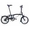 Brompton BLACK seat pillar / post - steel - extended length