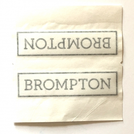 Brompton decal - Black (hopefully yours will be flatter than this!)