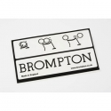 Brompton replacement decal - Black