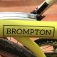 Brompton decal - Black - On bike