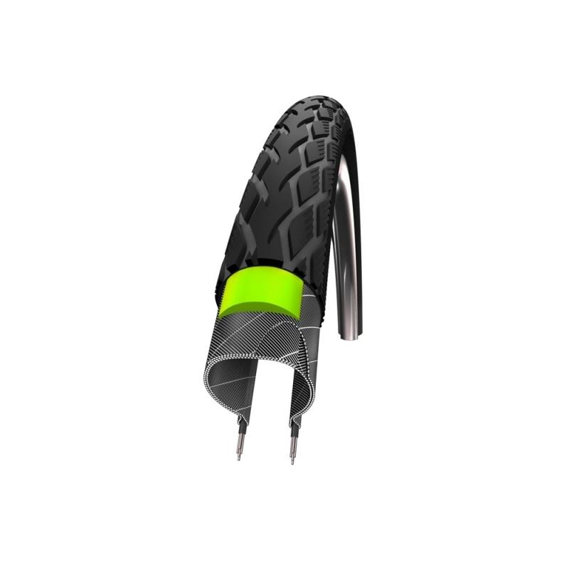 Schwalbe Marathon 700 x 25c Greenguard Endurance Black Reflex Wired Tyre