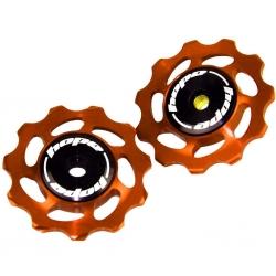 Hope 11 tooth Jockey Wheels (pair) - Orange
