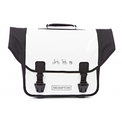 Brompton Ortlieb bag, complete with frame and strap - white