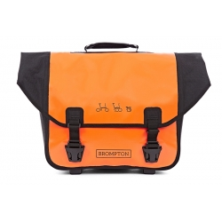 Brompton O Bag - Black / Orange