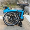 Brompton 2017 BLACK EDITION M6L - Lagoon Blue / Black