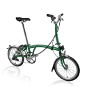 Brompton 2018 H6L Racing Green with front carrier block