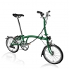 Brompton 2017 M6L Racing Green with front carrier block