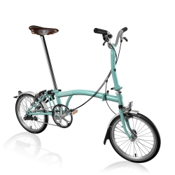Brompton 2017 M3L Turkish Green folding bike