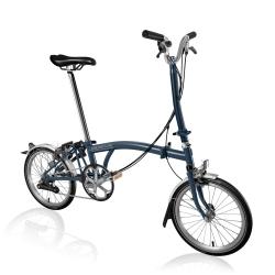Brompton 2017 H6L Tempest Blue folding bike