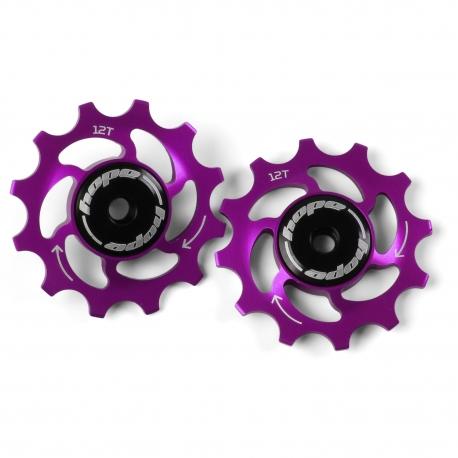 12 Tooth Hope Jockey Wheels (pair) - Purple