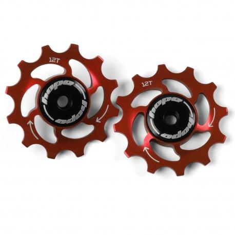 12 Tooth Hope Jockey Wheels (pair) - Red